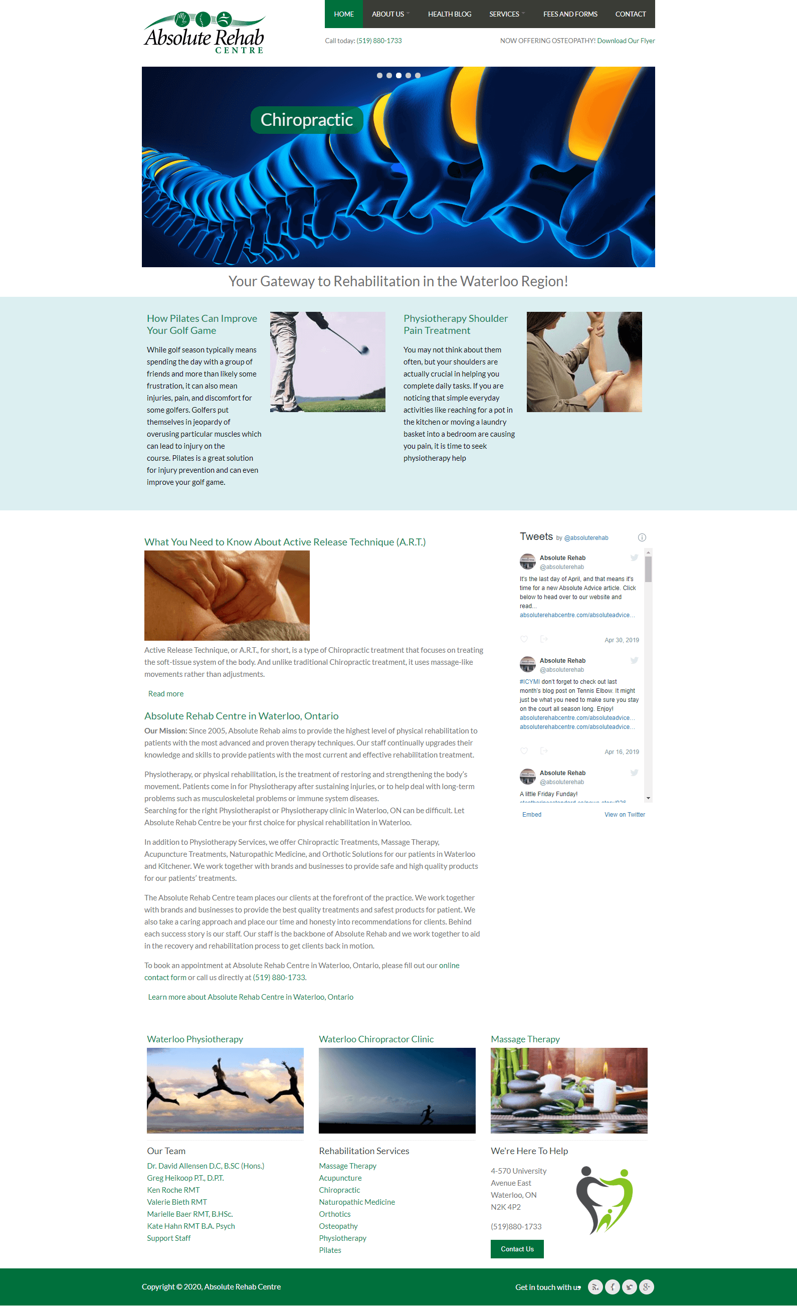 Absolute Rehab Services Page Screen Shot