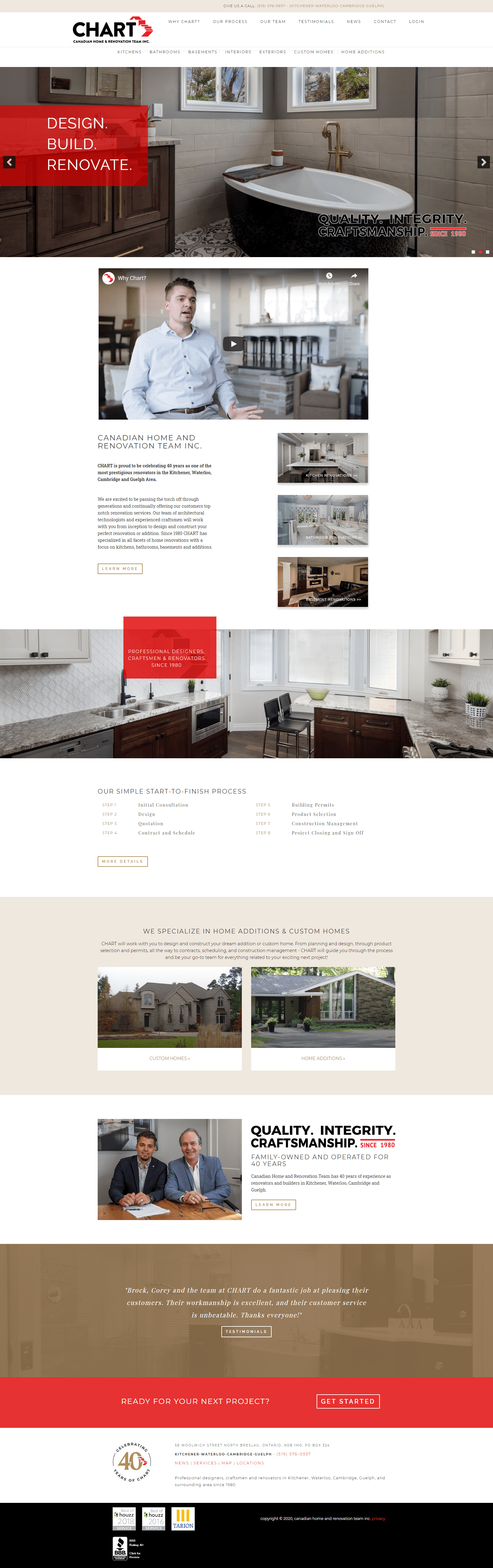 Screen shot CHART home page