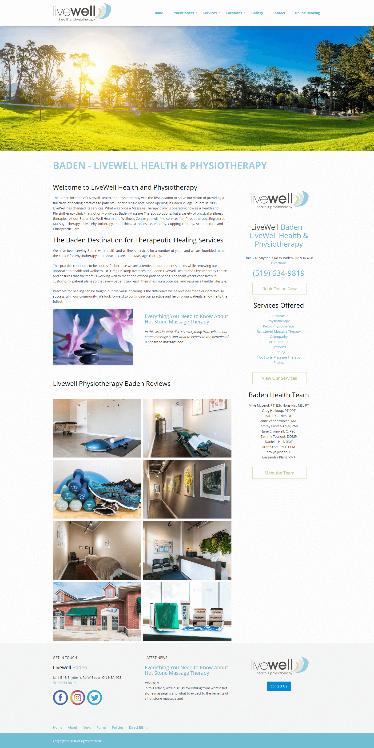 LIvewell Baden home page